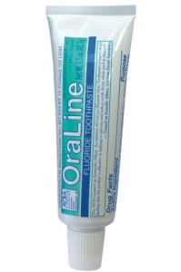 Free-travel-sized-sample-of-OraLine-mint-toothpaste-199x300