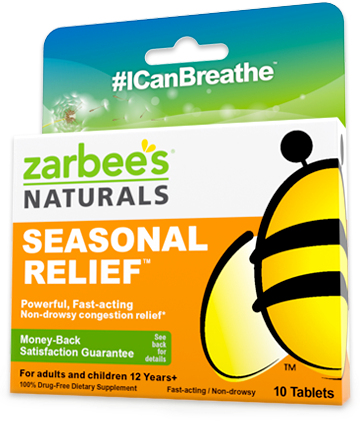 ZarBee's Naturals Seasonal Relief $3 Coupon
