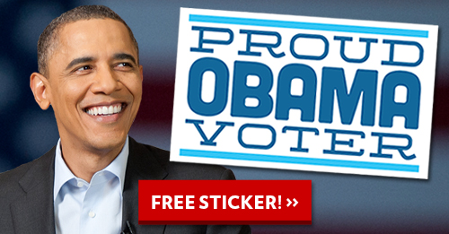 Proud Obama Voter Sticker