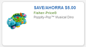 save $2 on Fisher Price toy