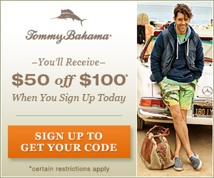$50 off at Tommy Bahama