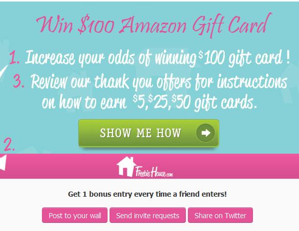 Freebiehouse - Win Amazon Gift Card Giveaway
