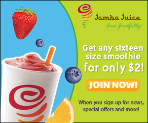 Jamba Juice Smoothie for Only $2