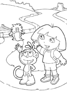 Dora_Coloring_Pages_free_For_Kids