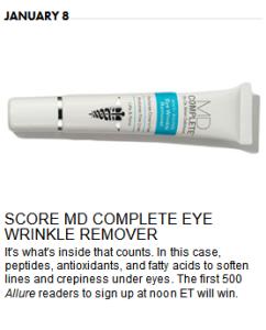 MD Complete Eye Wrinkler Remover contest