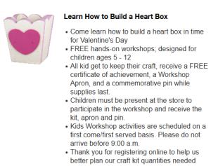 Kids workshop home depot