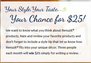 Submit a review on renuzit