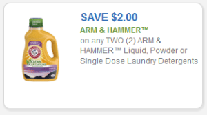 ARM AND HAMMER LIQUID DETERGENT COUPON