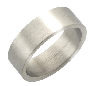 10mm Stainless Steel Flat Ring with Brushed Finish