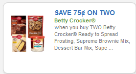 Betty Crocker 75cents off